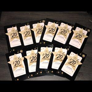 Victoria's Secret rewards cards